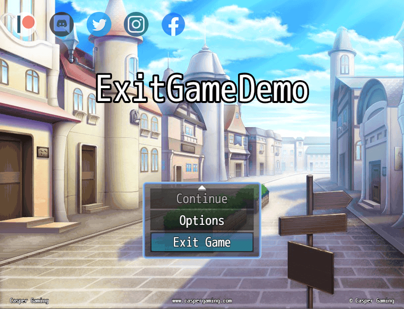 Exit the game to desktop from title screen