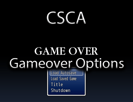 Game Over Options
